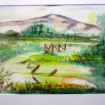 Wetlands Moss - a watercolour