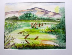 Wetlands Moss - a watercolour