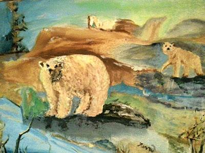 Polar View - bears in oil