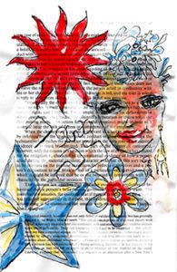 Stencil on Book Paper