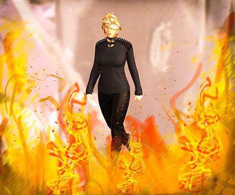 On Fire - simulating a Shift Art idea